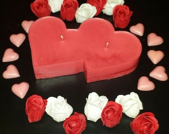 Large Double Heart Scented Candle