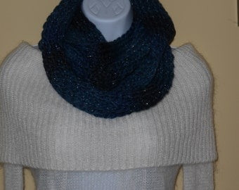 Handmade Knitted Sparkle Infinity Scarf