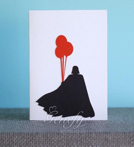 star wars darth vader card silhouette paper cut