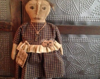 Primitive Fall Doll with Pumpkin