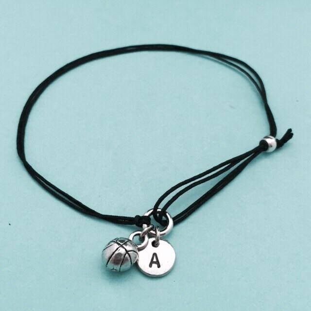 Basketball Cord Bracelet Basketball Charm Bracelet
