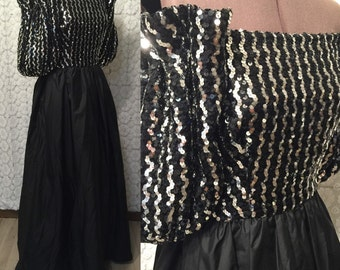 After Five sequin and taffeta party dress / prom dress / holiday dress / New Year's Eve dress