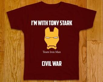Civil War Marvel T-shirt - Team Iron Man