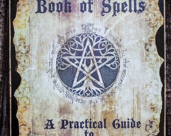 Halloween Spell Book, Halloween Decoration, Halloween Prop, Spell Book Prop, Book of Spells, Unique Halloween, Unique Spell Book Prop