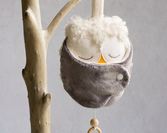 Unique baby shower gifts gender neutral - baby nursery mobile owl - baby mobile woodland owl - woodland nursery mobile - owl stuff toy