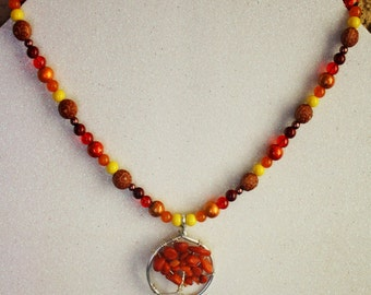 Autumn Tree of Life Necklace