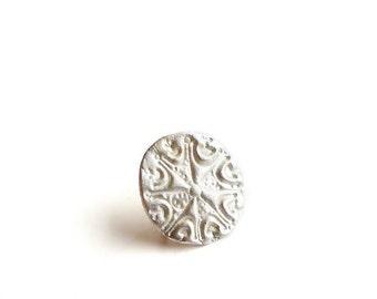 EAD2015 52 of 365 Sterling silver Snowflake Post Earring
