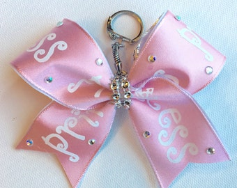 Pretty Pink Princess Keychain Bow
