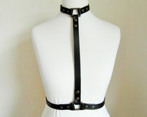 Body Harness, Leather Body Harness, Harness Lingerie, Bra Harness, Fashion Harness, Black Leather Harness, Fetish Harness, BDSM, Bondage