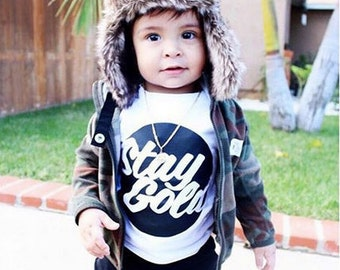 Stay Gold T-shirt- baby clothes, Modern Tee- Kids Tee - Infant Clothing - Baby Tees - Toddler Clothing - Kids Tops - Baby Tops - Toddler Tee