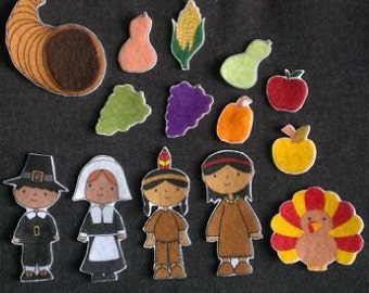 Thanksgiving Felt Board Set // Preschool // Teaching //  Holiday // Sharing