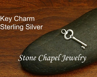 Key Sterling Silver Charm