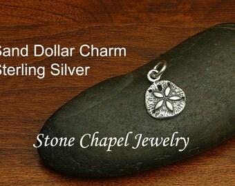 Sand Dollar Sterling Silver Charm