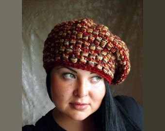 Taken from the yarn, cap, crochet hat, knitted hat, knitted beret