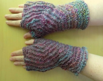 SALE: - OOAK Touch of Colour Hexagon Fingerless Gloves