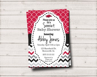 Sooiet Baby Shower Invite Razorback Invitation - Inv003b