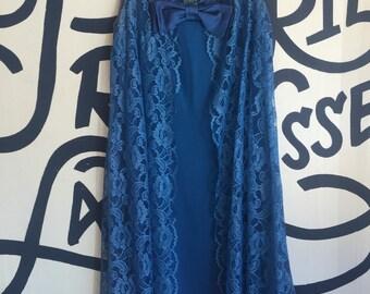 Vintage 1960's Blue Lace Party Dress