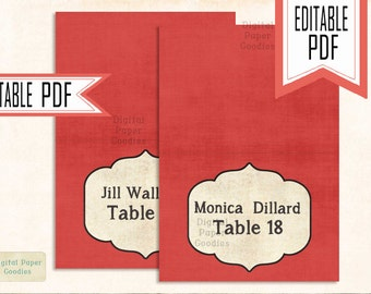 Wedding place cards PRINTABLE