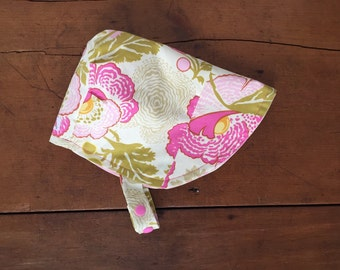 Vintage Poppy Sun Bonnet, Baby Bonnet, Baby Sun Hat,  Reversible Bonnet, Modern Bonnet, For Baby and Toddler