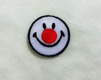 Clown Smiley Face Iron on Patch - Clown Smiley Face Applique Embroidered Iron on Patch