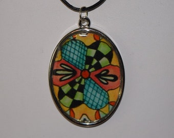 "Tangle Art Necklace - ""Patches"""