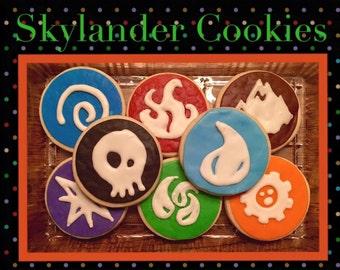 Skylander Sugar Cookies