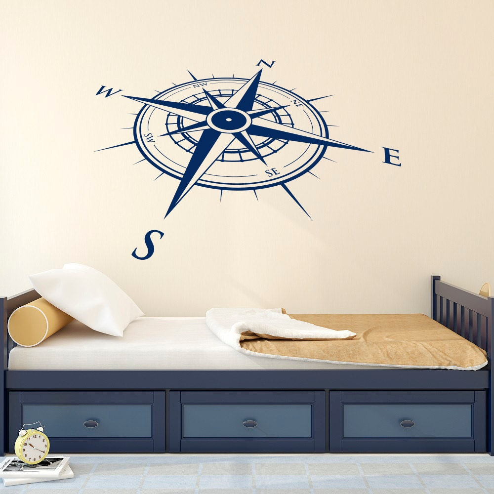 Wall Art Stickers East Rand : Nautical compass rose wall decal vinyl sticker north south