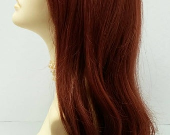 Long 23 inch Bright Auburn Straight Wig. Heat Resistant Wig. [50-269-Emily-350]