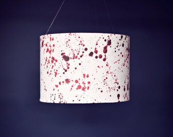 Red lampshade, Lampshade, red white lamp, new home gift, floor lamp, geeky home, geeky gifts, handmade lampshade, halloween, lamp shade