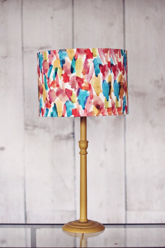 colourful lshade fabric drum l shade by