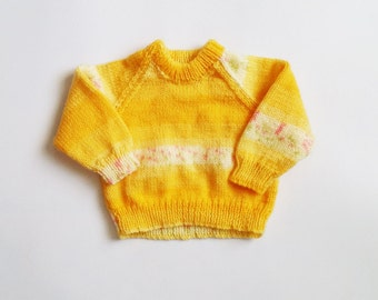 FREE SHIPPING 1/2 yrs - 1 yr Vintage polyester and cotton blend knitted jumper sweater cardigan turtleneck children (1 yr) jersey