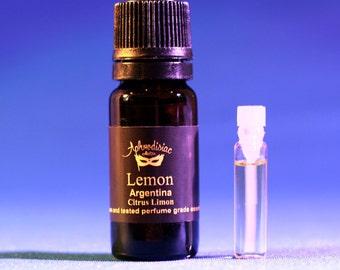 Lemon essential oil, Argentina, Citrus limon 5, 10 ml
