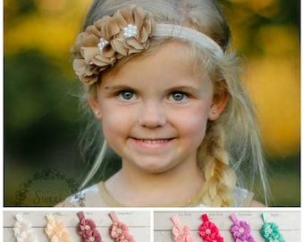 Baby Headbands,newborn headband,Baby Headband,Infant Headband, Baby Hair Bows, flower headband, Girls headband, Flower girl headband.