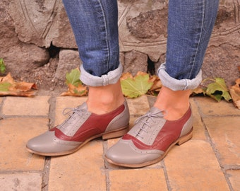 Hudson - Womens Handmade Oxfords, Floral Oxfords, Leather Brogues, Casual Shoes, Oxfords, Custom Shoes, FREE customization!!!