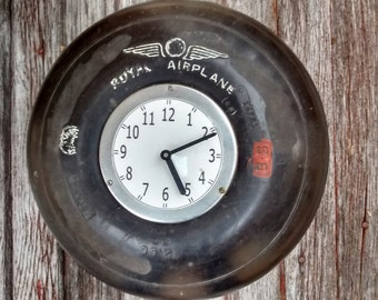 SPRING Cleaning Sale* One of a Kind Royal Airplane Tire Clock!