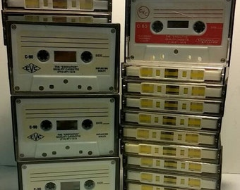 Blank Recordable Cassettte Tapes - 29 tapes