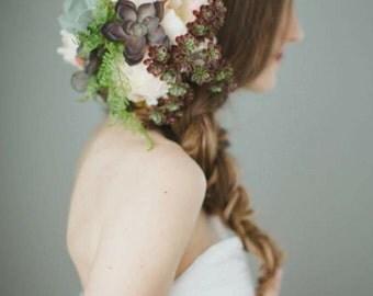 Flower hair clip, floral headpiece