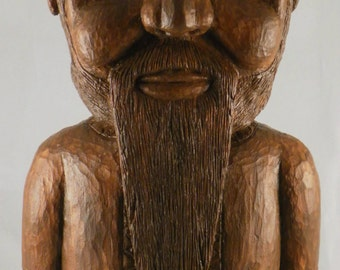 Forester carved wooden sculpture, artistic wood carving