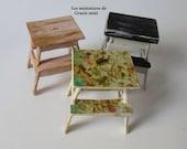 Miniature stoll style ikea- scale 1:12- Dollhouse miniature