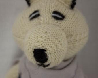 Arctic Fox Knit Wool Doll