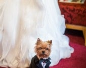 Dog wedding attire Formal suit for dog with bow tie Special occasion evening outfit for dog Swallow-tailed coat for dog Birthday dog costume