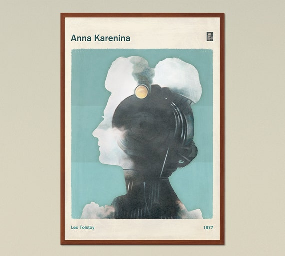 Anna Karenina Book Cover Art ~ Leo tolstoy anna karenina large literary by redhillprintables