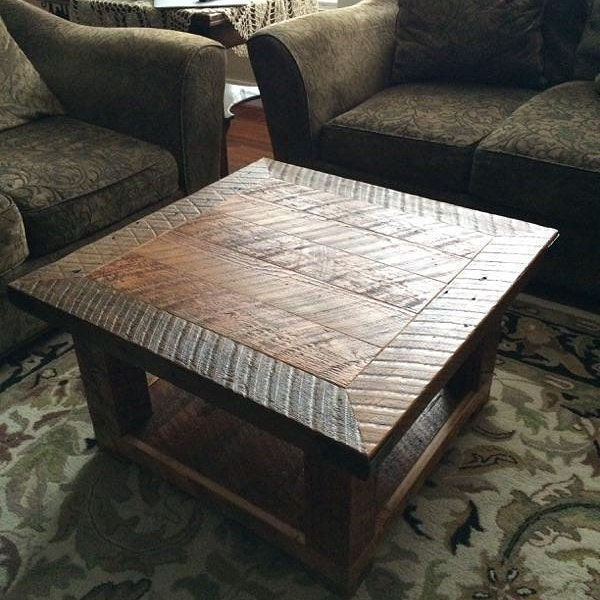Reclaimed Wood Coffee Table The Old Seattle Square