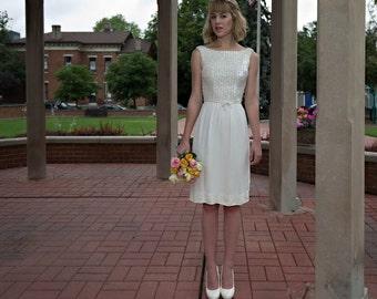 1970s White sequin dress