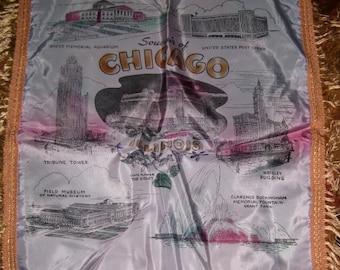 Mid Century Kitsch Souvenir Cushion Cover, Chicago, Illinois