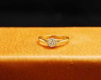 Antique Diamond Solitaire from Great Britain