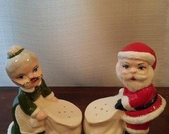 Salt & Pepper Shakers-Santa and Mrs. Claus