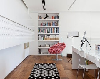 Hallway Rugs, Rug Runner, Black And White Area Rugs,modern Area Rugs,