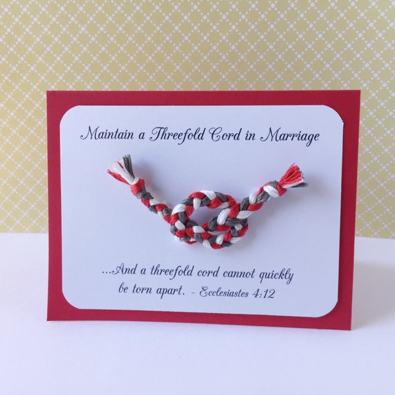 JW Threefold Cord Marriage Scripture Handmade Card