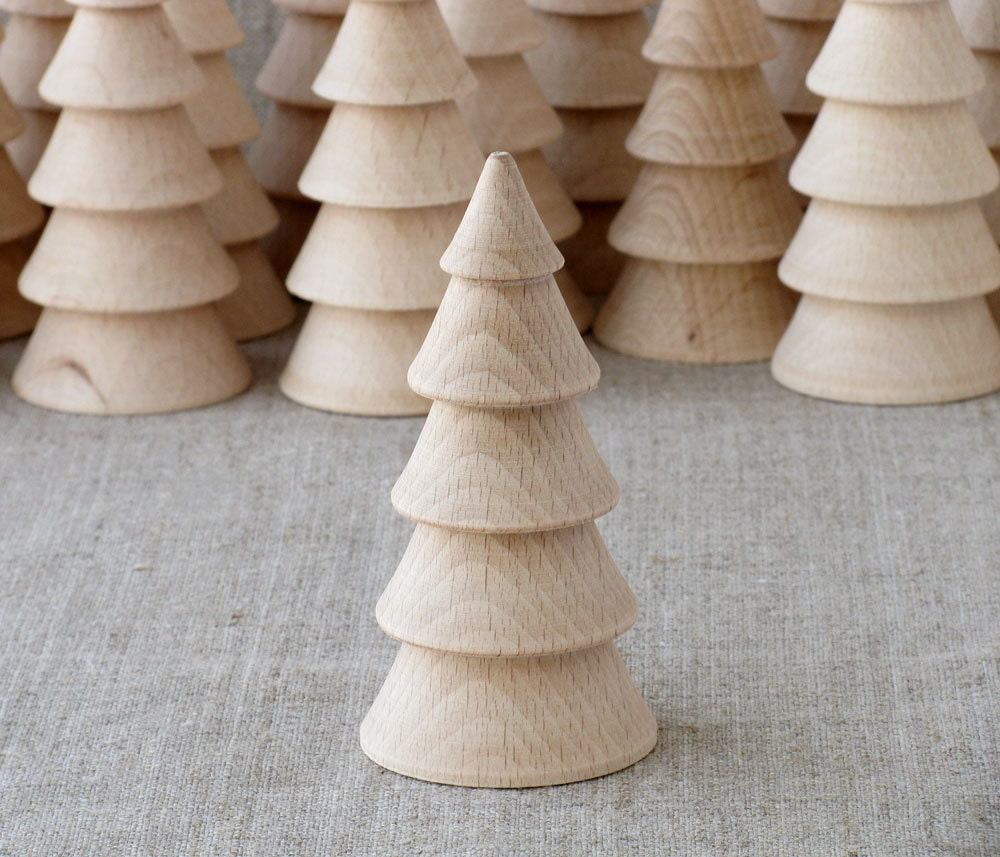 Unfinished Wooden Christmas Tree DIY Wood Crafts Christmas